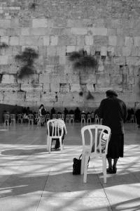 Wailing Wall black and white